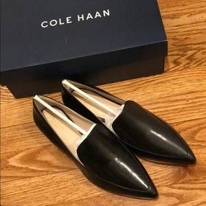 Cole Haan Brie Skimmer Black Leather Flats W's S9